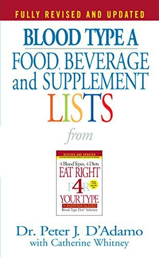 Blood Type A Food Beverage And Supplemental Lists From Eat Right