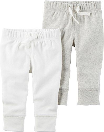 Heather Black NWT two pair Carter/'s Infant Girls/' 2-Pack Pants Ruffle Bottom
