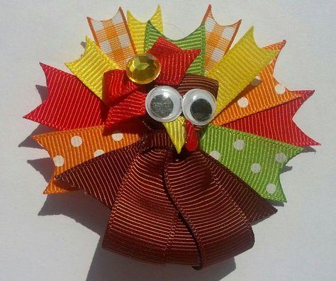 Gobble Gobble! Turkey hairbow