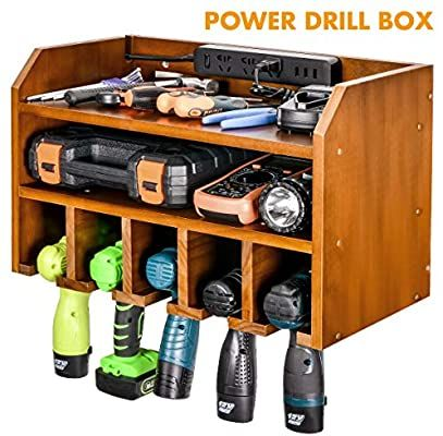 Drill Charging Station Drill Storage Wall Mounted Cordless Drill Organizer Power Tool Storage Power Dr In 2020 Power Tool Storage Tool Storage Diy Tool Storage