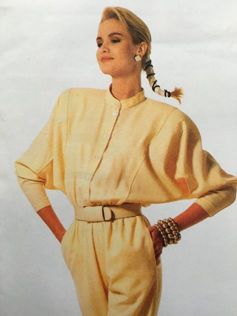 1980s Vogue VOGUE Patterns Individualist Carol Horn Dress 1980s shoulder pads, power dressing,  Etsy weseatree patterns 1980s