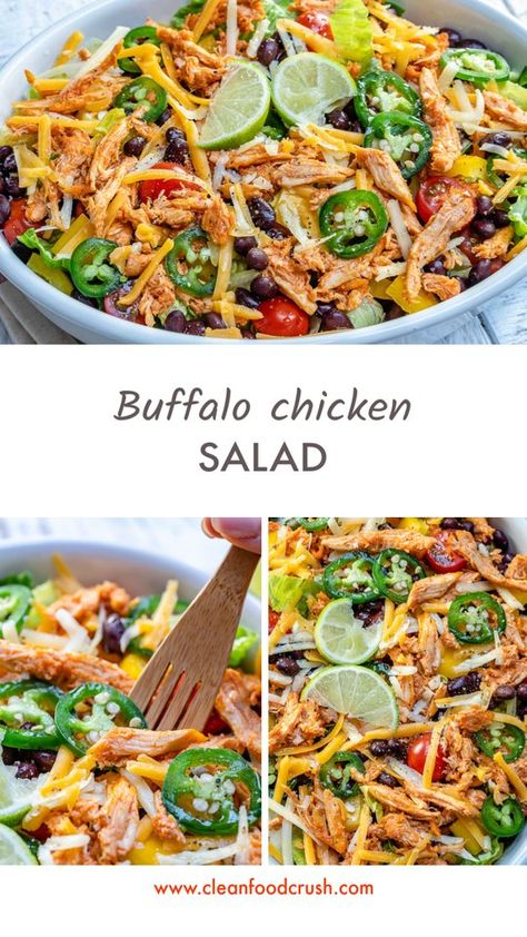 This Clean Buffalo Chicken Salad is Exploding with Flavor! This Clean Buffalo Chicken Salad is Exploding with Flavor! Clean Recipes, Lunch Recipes, Healthy Recipes, Healthy Foods, Paleo Food, Clean Foods, Soup Recipes, Fresco, Clean Eating Snacks