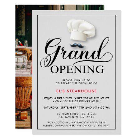 modern restaurant opening invitation