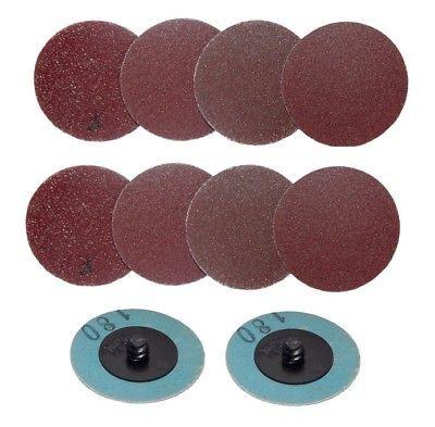 Details About 20pc 2 Twist Lock Abrasive Sanding Discs 40 60 80 120 180 Grit Parts And Accessories Sanding Abrasive