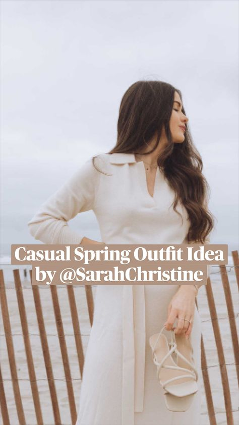 Casual Spring Outfit Idea by @SarahChristine