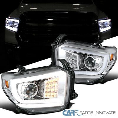Ad Ebay For 14 20 Tundra Led Drl Tube Clear Projector Headlights Bar Turn Signal In 2020 Projector Headlights Cars Trucks Ebay