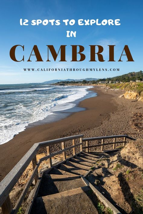 12 Things to do in Cambria: Restaurants, Hikes, Beaches & More : There are lots of great things to do all around Cambria. It is also an amazing place to just relax, walk the boardwalk and eat great food. Cambria California, California Coast, California Travel, San Simeon California, San Luis Obispo California, Little Italy, Places To Travel, Places To See, Travel Destinations