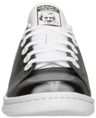 adidas Big Boys\u0027 Stan Smith Lentic Casual Sneakers from Finish Line -  BLACK/WHITE