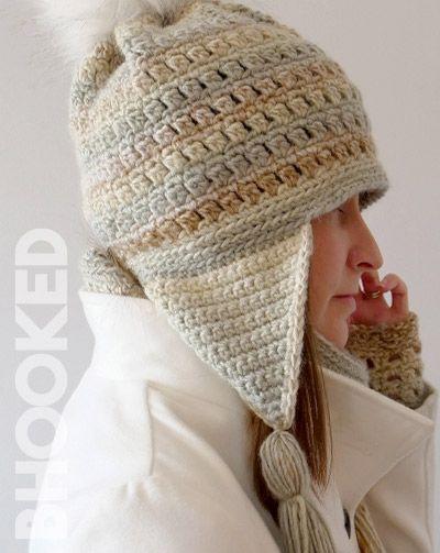Colorscape Earflap Crochet Hat Free Pattern Tutorial From B Hooked Crochet Hats Free Pattern Crochet Hats Crochet Hat Tutorial