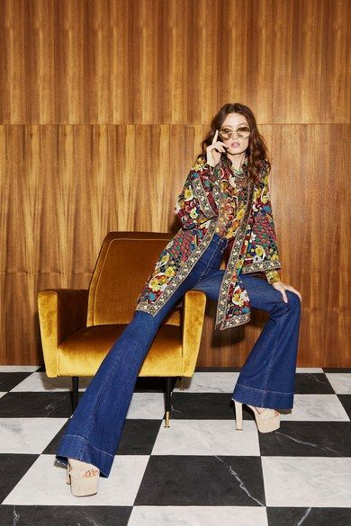 Alice + Olivia Resort 2019 Fashion Show | 70s inspired fashion, 70s fashion trending, 70s fashion