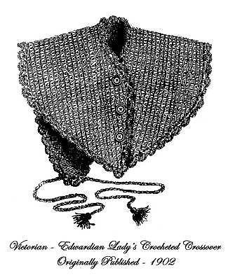 Civil War Victorian Fichu Cape Crochet Pattern 1868