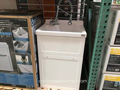 Ove Daisy Utility Sink With Faucet Item, Laundry Room Sink With Cabinet Costco