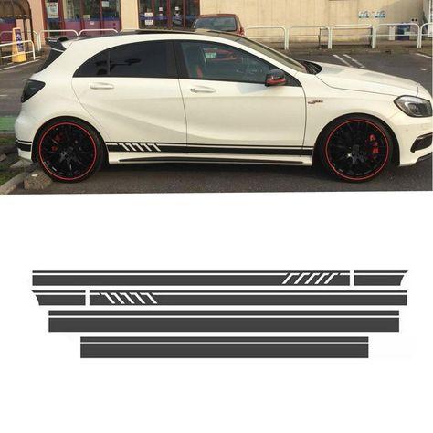 2x Car DE Flag AMG Logo Emblems Side Decals Fender Sticker For Mercedes-Benz