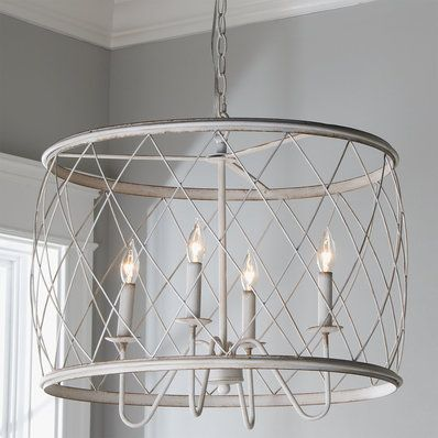 Check Out Faded Rustic Drum Cage Chandelier 6 Light From Shades Of Light Drum Shade Chandelier Cage Chandelier Drum Chandelier