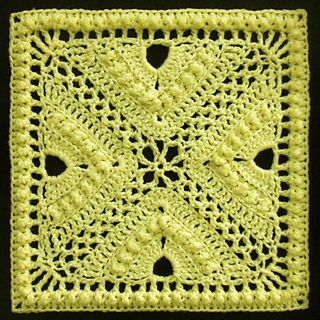 """Day 15: 12"""" Block of the Day - Bee Hives and Clover Afghan Block by Joyce Lewis  Free Pattern: http://www.ravelry.com/patterns/library/bee-hives-and-clover-afghan-block   #TheCrochetLounge #12inch #grannysquare Pick #crochet"""