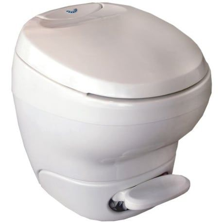 Parchment Aqua-Magic Bravura RV Toilet Pedal Flush with Water Saver Low Profile Thetford 31121
