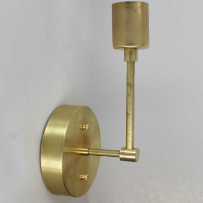 One Light Wall Sconce Kit Unfinished Brass You Assemble Yourself And Save Wall Sconce Lighting Lamp Parts Sconces