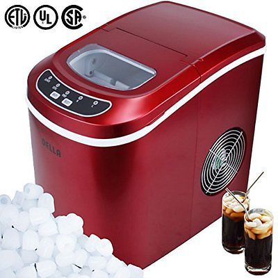 Della C Portable Ice Maker Easy Touch Buttons Digital 2 Selectable