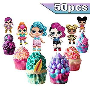 Lol Cake Toppers Lol Cupcake Toppers 50pcs Lol Happy Birthday Party Supplies Pink Happy Birthday Party Supplies Happy Birthday Parties Birthday Party Supplies