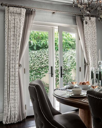 Pleated Style Drapery Window Treatments Living Room Living Room Sliding Doors Patio Door Coverings