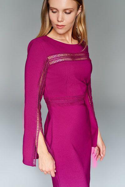 Fusya Aksesuar Detayli Elbise Trendyolmilla Trendyol Elbise Kadin Olmak Moda Stilleri