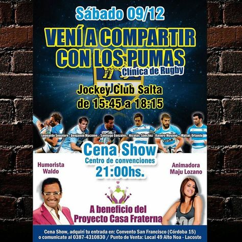 party Sáb 9 Dic - #LosPumas en...
