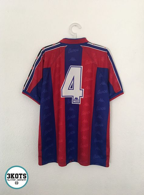 c2bb535c632 GUARDIOLA Barcelona FC 1995 97 Home Football Shirt L Soccer Jersey KAPPA  Vintage  Kappa