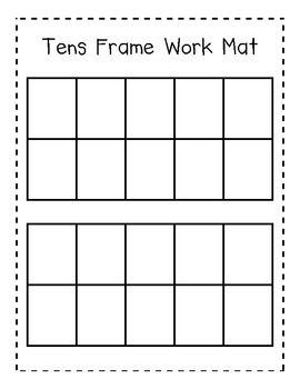 image regarding Double Ten Frame Printable identify Double 10 Body Mat