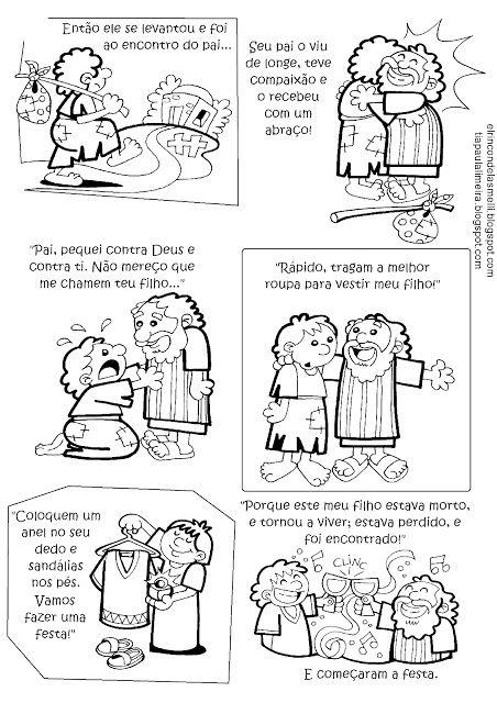 Parabola Das 10 Virgens Para Colorir Mateus 25 1 13 Com