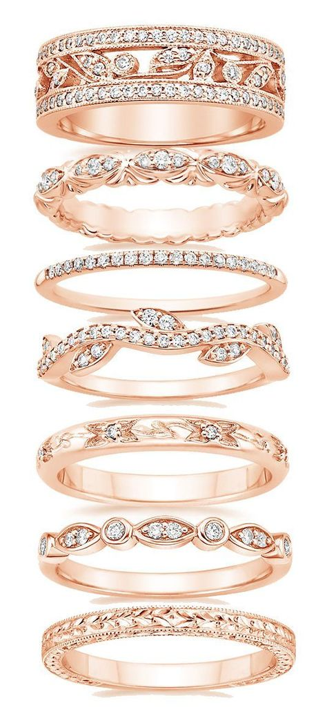 Just do an extra beautiful rose gold wedding band (and still get all white gold engagement and matching wedding band):