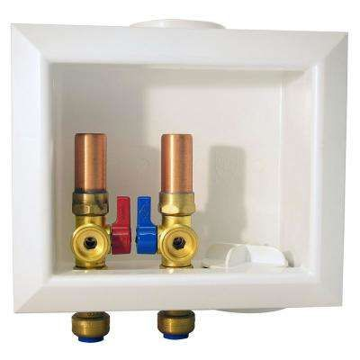 1 2 In Brass Washing Machine Outlet Box With Water Hammer Arrestors Washing Machine Box Water Washing Machine Hose