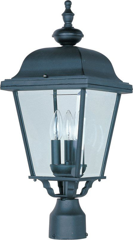 Darlington Outdoor 3 Light Lantern Head Post Lighting Outdoor Post Lights Outdoor Light Fixtures