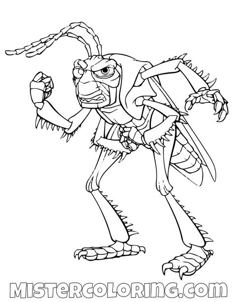 Hopper A Bugs Life Coloring Page