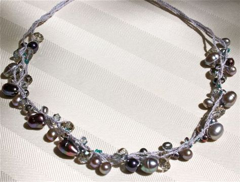 Beaded And Crochet Necklace Infamous Beaded Necklace Tutorial By