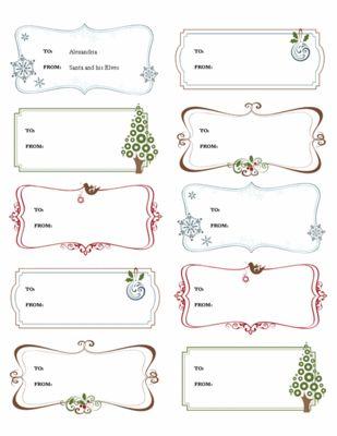 microsoft christmas templates