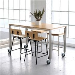 Counter Height Table Maybe Add Industrial Looking Legs On Existing