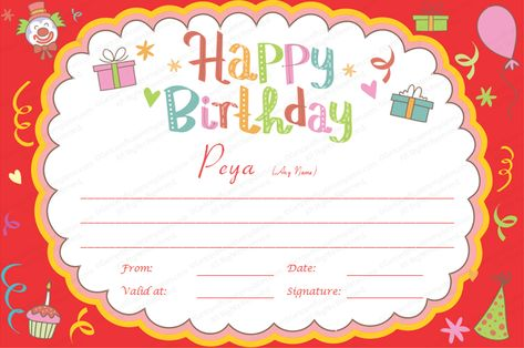 Birthday Gift Certificate Templates by www - anniversary certificate template