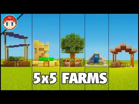 How To Make Pixel Art In Minecraft Bedrock 5 Minecraft 5x5 Farms Easy Tutorial You Can Build Too Youtube Minecraft Tutorial Minecraft Minecraft Crafts