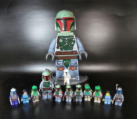 Custom Lego Star Wars Boba /& Jango Fett Classic Minifigure Set
