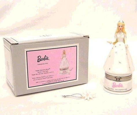 Barbie Holiday Celebration Hinged Box Midwest NIB #Midwest