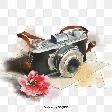 Hand Painted Photograph Photography Travel Camera Art Flower Slr Camera Polaroid Flower Clipart Camera Camera Logo Vintage Hand Painted Photographs Camera Logo