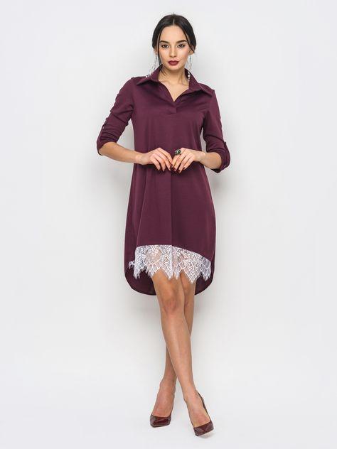 e2d7f600fce3ca9 Платье с кружевом арт. 051112944. Купить в интернет-магазине Liverua.  Доставка по Украине.