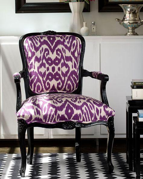 Madeline Weinrib purple ikat chair