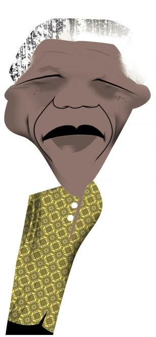 Caricature, Nelson Mandela, Connie Fogg