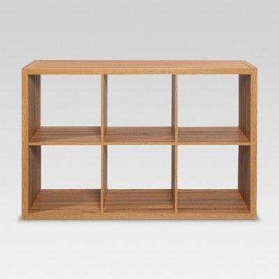 6 Cube Organizer Shelf Natural 13 Threshold Cube Organizer