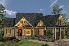 Plan 15883ge Craftsman Inspired Ranch Home Plan Rustic House Plans Ranch House Plans Cottage House Plans