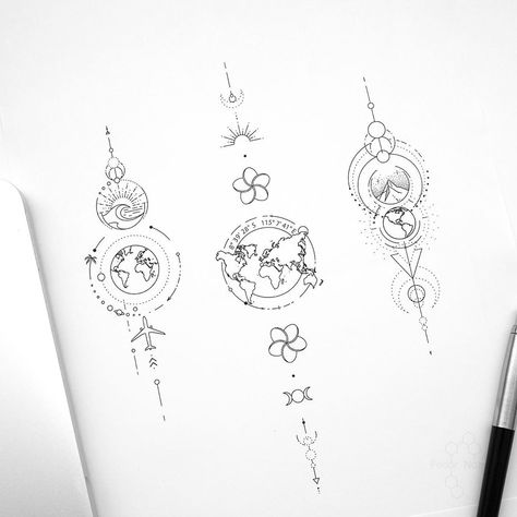 "© Tattoo Artist Fedor Nozdrin on Instagram: ""Available designs . . . . #geometrictattoodesign #geometrictattoo #maptattoo #traveltattoo #travellingtattoo #wavetattoo #mountaintattoo…"""