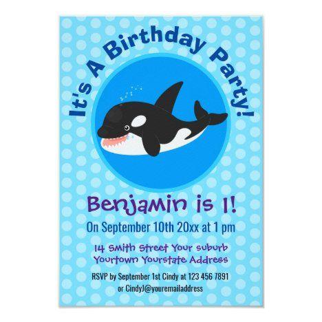 Killer Whale Birthday Customised Card