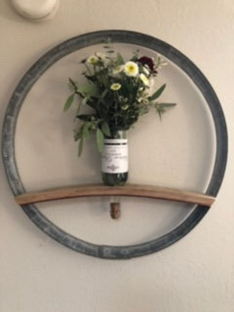 Wine Barrel Wall, Wine Barrel Crafts, Wine Barrel Rings, Wine Bottle Crafts, Whiskey Barrel Furniture, Wine Barrel Wedding, Barrel Projects, Irish Decor, Home Bar Decor