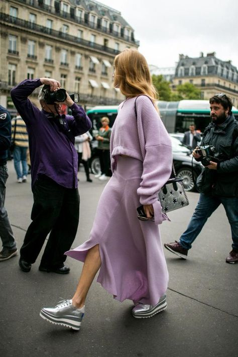 Phil Oh's Best Street Style Photos From Paris Fashion Week Spring Lavender takeover- Styling inspiration